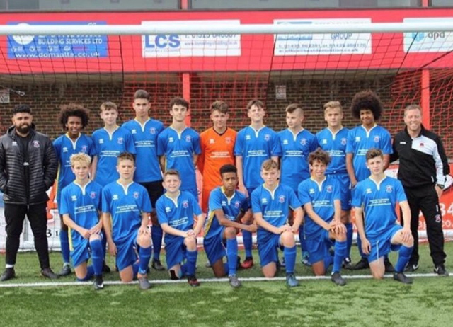 Sponsorship of Eastbourne Borough Football Club U15 Team